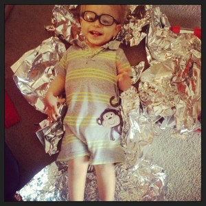 Playing with foil in vision therapy. :)
