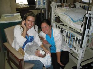 One of Judah's many precious nurses!  They were such angels to us!